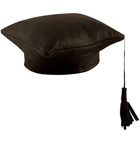 Black Fabric Mortar Board Hat Novelties Direct