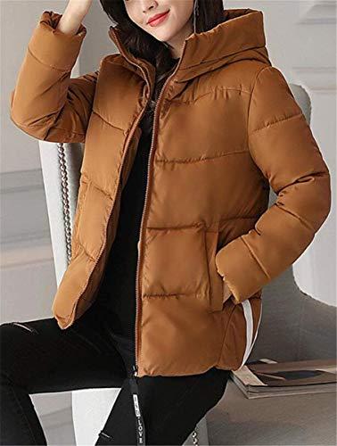 Casuali Cappotto Bildfarbe Trapuntata Piumino Incappucciato Giacca Donna Eleganti Moda Caldo Solidi Addensare Manica Cappotti Lunga Trapuntato Costume Outdoor Invernali Colori xzqwgBYwR