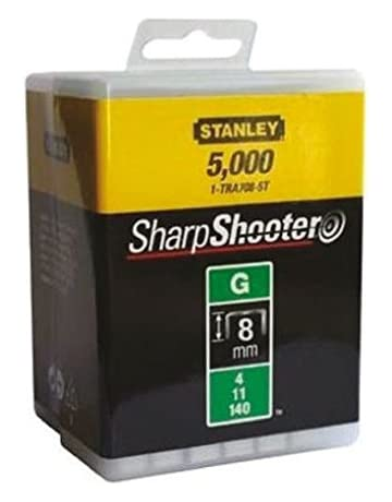 Stanley Grapas Tipo G 8 mm-5000 Unidades, 1-TRA705-5T 8mm