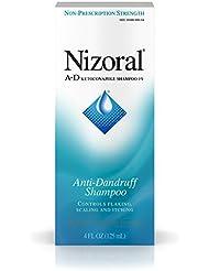 Nizoral A-D Anti-Dandruff Shampoo 4 Fl. Oz Itchy Scalp Dandruff Treatment w/ Ketoconazole 1%