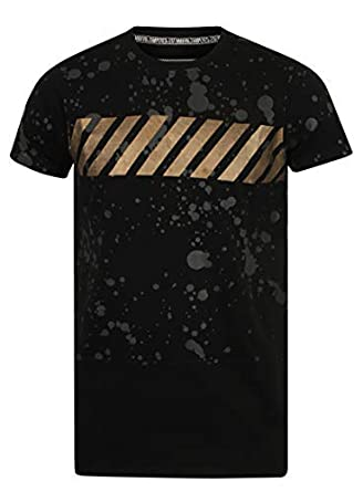 e6b07971 Tampered Apparels Men's Crew Neck Cotton Fuzz Printed T-Shirt,Casual T- Shirts for Men, Men's T-Shirt,Half Sleeves Long Line T-Shirt for Men,  Cotton Casual ...