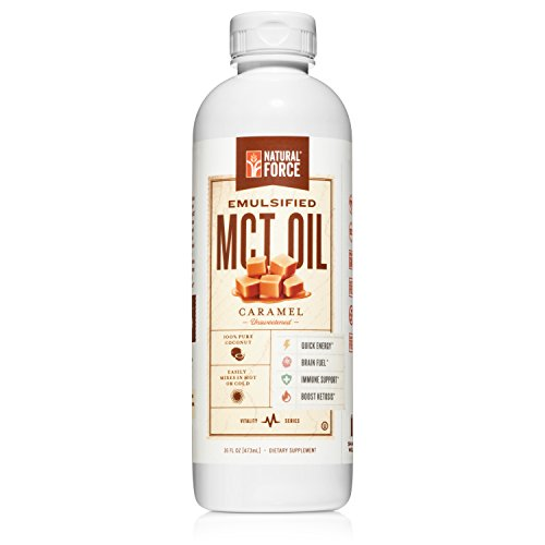 Emulsified MCT Oil Creamer, Caramel *Best Keto MCT Oil for Mixing in Drinks* Unsweetened