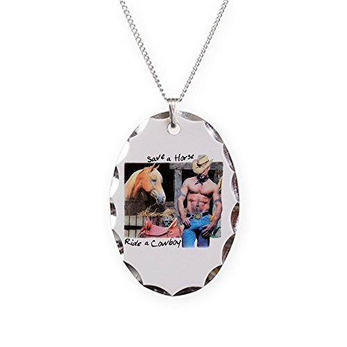 Save A Horse Ride A Cowboy Costumes - Royal Lion Necklace Oval Charm Country