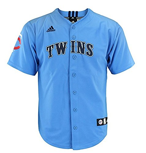 Minnesota Twins MLB Youth Boys Team Jersey, Blue (Large 14-16)