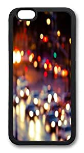 Blurry Rainy Street Scene Custom iphone 6 plus 5.5 inch Case Cover TPU Black