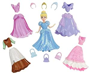 Disney T7326 - Muñeca de Cenicienta con vestidos y accesorios