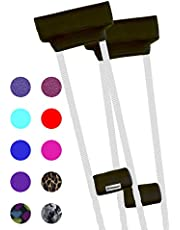 Crutcheze Black Underarm Crutch Pad and Hand Grip Covers with Comfortable Pad.