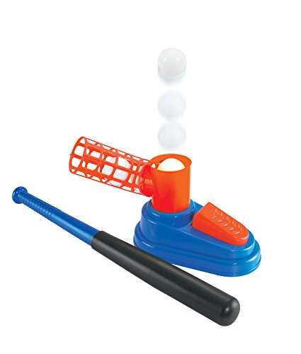Kidwerkz Baseball Trainer Pop and Play, Toy Set with Ball Loader, Great for Softball and Baseball Batting Practice, 3 Balls and Baseball Bat included, Great For Toddlers, Boys and Girls, Ages 4 and up