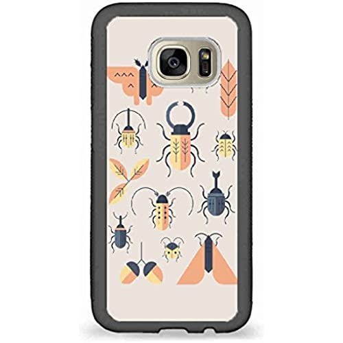 Custom Phone Cases Design for Samsung Galaxy S7 - Words Inspire,Insects art design back phone cases Sales