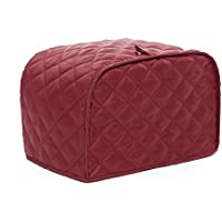 4 Slice Toaster Cover Red For Kitchen Toaster Dust & Fingerprint Protection (L/12x11x8.5 inch/Red)