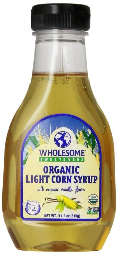 WholesWholesome Sweeteners Organic Light Corn Syrup, 11.2 oz. (Pack of 3) ()