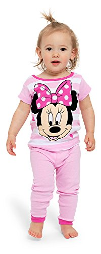 Disney Pajamas For Toddlers - Disney Girls' Toddler Minne Mouse 4-Piece