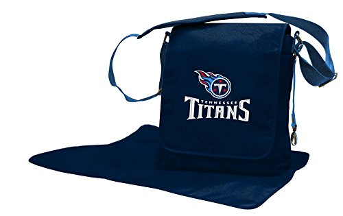 NFL Tennessee Titans Messenger Diaper Bag, 13.25 x 12.25 x 5.75-Inch, Blue by Wild Sports