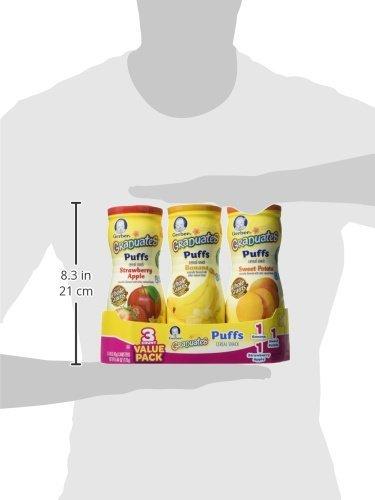 Gerber Graduates Puffs - Variety Pack - 1.48 oz - 6 pk( 2 of each flavor)