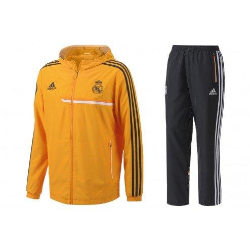 2013-14 Real Madrid Adidas EU Presentation Tracksuit (Orange)