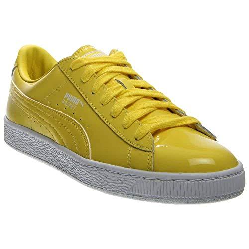 PUMA Men's Basket Matte & Shine Blazing Yellow/Puma White Oxford