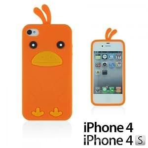 OnlineBestDigital - Chick Style Soft Silicone Case for Apple iPhone 4S / Apple iPhone 4 - Orange