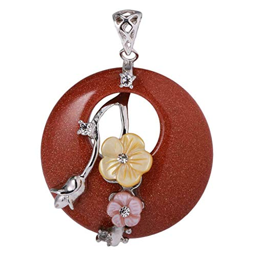 40mm Lucky Crystal Gemstone Stone Round Pendant Charms for DIY Necklace Jewelry Crafting Key Chain Bracelet Pendants Accessories Best| Color - Wine Red (Bead 40mm Necklace Chain)