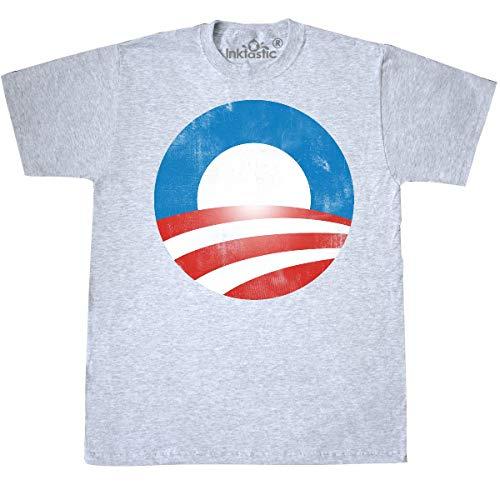 Obama Ash Grey T-shirt - inktastic - Obama Logo (Vintage Look) T-Shirt Medium Ash Grey db29