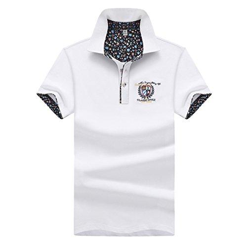 SemiAugust(セミオーガスト)メンズ 半袖 ポロシャツ カジュアル シャツ おしゃれ ゴルフウェア ボダンダウン コットン リラックス 刺繍 ワンポイント ファッション