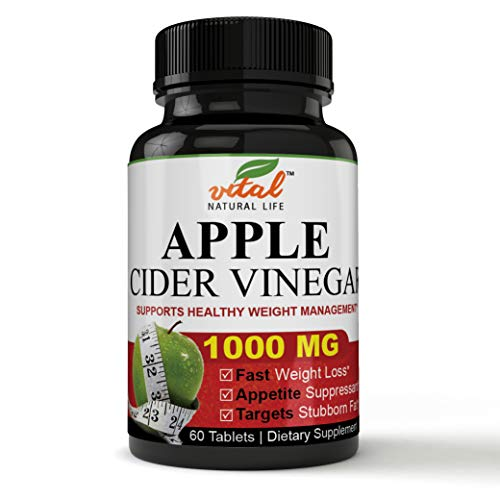 Powerful Natural Fat Burner Raw Potency Apple Cider Vinegar Pills Natural Formulation, Ultra Pure Unfiltered & Unpasteurized for Immune System