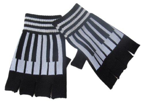 Black and White Piano Key Music Fingerless Gloves/ Glovelets