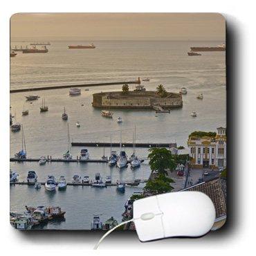3dRose Kike Calvo Brazil Collection - Mercado Modelo and a View of Salvador de Bahia Harbor. - Mousepad (mp_216134_1)