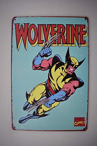 K&H Wolverine Retro Metal Tin Sign Poster Wall Display -