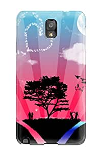 Best Top Quality Protection World Of Love Case Cover For Galaxy Note 3
