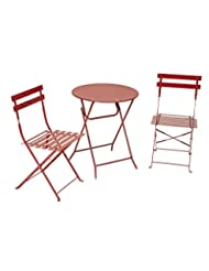 Cosco 3-Piece Folding Bistro-Style Patio Table and Chairs Set...