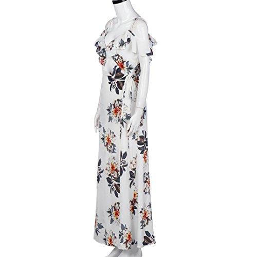Vestidos de verano,Vovotrade Mujeres impresión floral volantes V-cuello playa vestidos