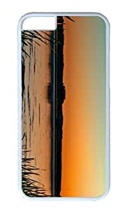 MOKSHOP Adorable lake sunset horizon Hard Case Protective Shell Cell Phone Cover For Apple Iphone 6 (4.7 Inch) - PC White