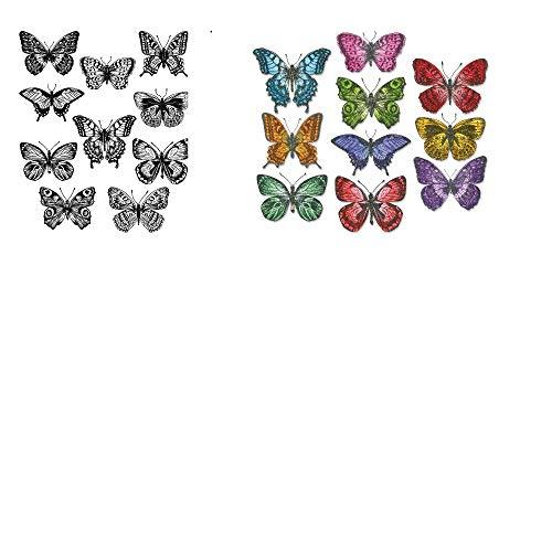 Bundle Tim Holtz Flutter Butterflies Die & Stamps 662269 CMS294