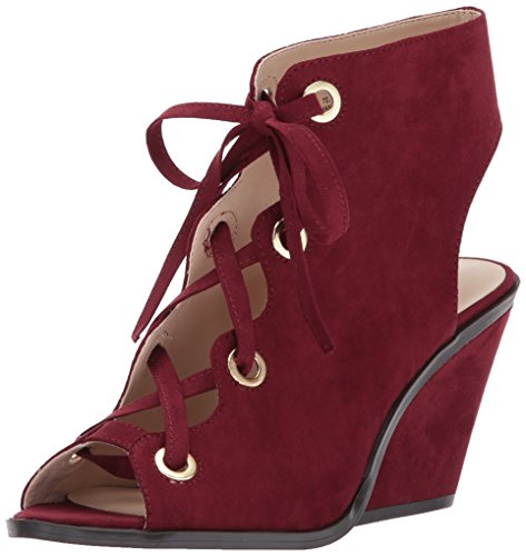 Nine West Women's QUASSO Fabric Fashion Boot Wine, 8 M US