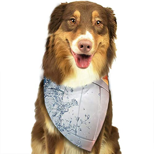Pet Scarf Dog Bandana Bibs Triangle Head Scarfs Volleyball Fire Ice Accessories for Cats Baby Puppy -