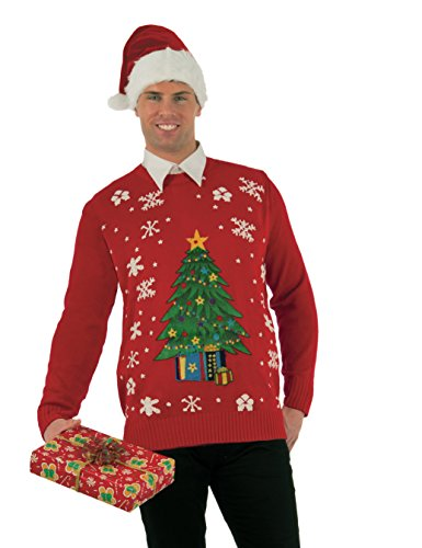 Forum Men's Classic Ugly Christmas Sweater, Multi, Large