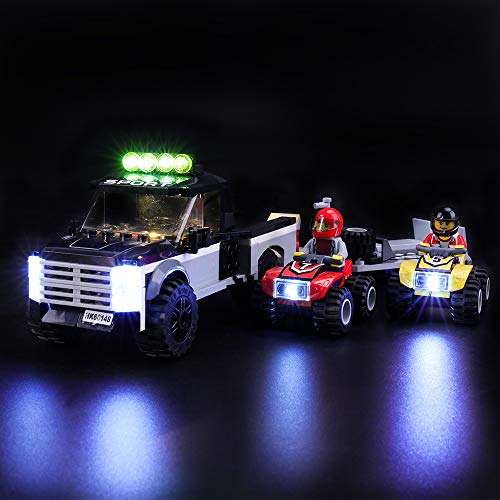 Conjunto de luces LIGHTAILING para el modelo de bloques de construcción (Equipo de carreras de la ciudad ATV) - Kit de luces LED Compatible con Lego 60148 (NO incluido el modelo)
