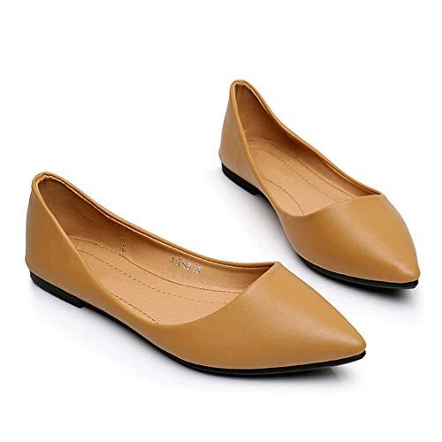 FLYRCX Los Zapatos Planos Ocasionales de Las Mujeres Zapatos Antideslizantes Zapatos de Trabajo de Oficina en una Variedad de Colores para Elegir H