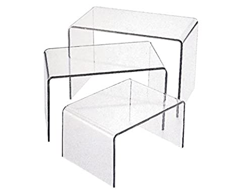 Acrylic Riser 3 Piece Set (Large) Jewelry Display (Acrylic Boxes Small)
