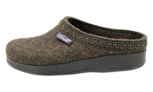 Sole Stegmann Clog Wool Felt Polyflex Women's Teak with TYwFTBOq
