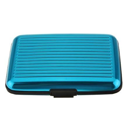 Portefeuille porte carte de crédit, carte d'identité, carte de visite, étanche, coque en aluminium bleu clair étanche FamilyMall Co. LTD