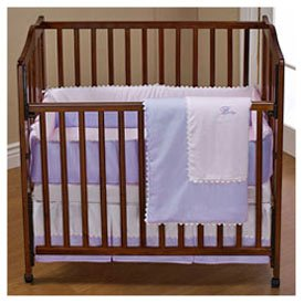 Babydoll RIC Rac Portable Crib Bedding, Light Blue