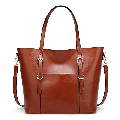 Handbag for Women Soft PU Leather Top Handle Satchel Clutch Purse Shoulder Bags for Lady by Jeniulet