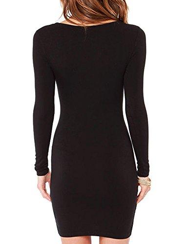 Haola-Womens-Sexy-Casual-Long-Sleeve-Short-Dress-Mini-Dress