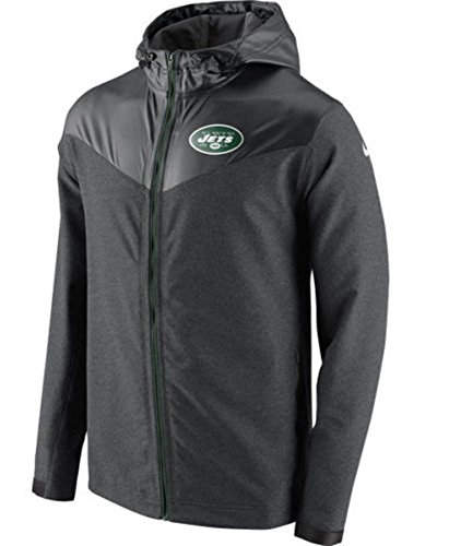 Uomo New York Jets Nike antracite anti-sudore giacca