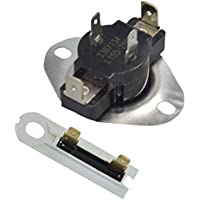 ATMA 3387134 & 3392519 Cycling Thermostat And Thermal Fuse Replacement Part For Whirlpool,Kenmore KitchenAid Roper, Maytag Dryers