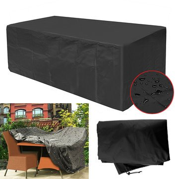 Alfresco Article Furniture Underwrite - 270x180x89cm Garden Patio Furniture Dust Cover Waterproof Oxford Outdoor Rattan Table Protection - Spread Masking Binding Outside Hide - 1PCs by Unknown
