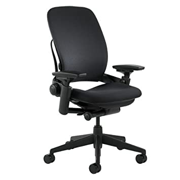 leap in fabric chair base steelcase black and titanium