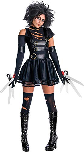 Famous Halloween Costumes 2019 (Secret Wishes Womens Edward Scissorhands Miss Scissorhands Costume, Black,)
