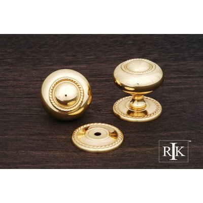 RK International RKI R.K. International CK 1212 T Large Rope Knob with Detachable Back Plate, Polished Brass,